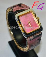 OT-WC-0006 Gianna Natural gem watch - Rhodochrosite Men's quartz watch,q&q quartz watches of men
