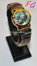 OT-WC-0009 Gianna Natural gem watch - Colorful abalone shell Ladies quartz watch,japan quartz boy lady girl watch