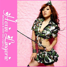 Hot sales new arrived sexy women custom military uniforms