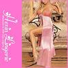 Wholesale sexy women hot pink long dress