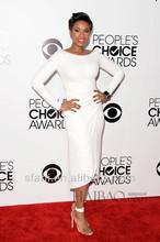 40th People Choice Awards Sheath High Neck Long Sleeve Ankle Length Jennifer Hudson Celebrity Dress