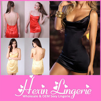 Mix Order Cheap 3 Colors Ladies Sexy Nighty Dress Picture