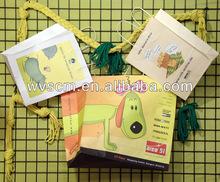 animal printed paper bag with handles wholesale
