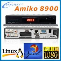 Factory Price Amiko SHD-8900 Alien linux opensource Enigma2 Dual Boot DVB-S2 Satellite Receiver For EU Amiko SHD 8900 Alien