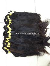 raw virgin remy human hair bulk/natural virgin Vietnam remy hair, vietnam hair
