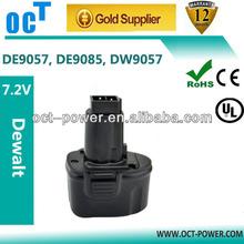 Dewalt 7.2v 2000mAh Ni-Cd Replacement Battery for DW920K, DW920K-2, DW925K, DW925K-2, DW968K