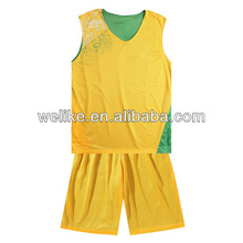 Top reversible basketball jerseys yellow and green basketball shirt cool jersey designs basketball