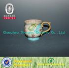 handpaint flower ceramic jumbo cup