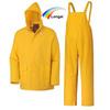 yellow polyester rubber rain coat