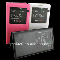 Sleep function battery cover leather case for Samsung N9000/NOTE 3 with IC chip