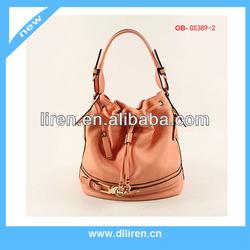 leather handle drawstring belt handbag manufacturing