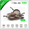 9pcs aluminum super capsule bottom cookware