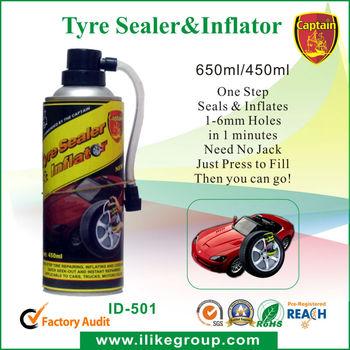 quick repair flat tire sealant and inflator