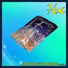 cosmetic sample sachet custom printed heat sealed bag food packaging custom printed ziplock bags/ Transparent black