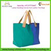 Classic Novelty Ladies Handbag Canvas And Leather Tote Bags