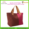 New Styling Fashion Big Capacity Women Canvas Leather Tote Bags