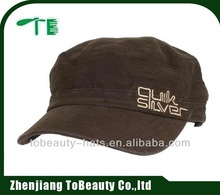 100% cotton fitted military army cadet cap and hat