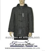 2013 hot sales high quality men's long wool coat