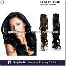 best quality natural black kinky straight ponytail wrap around ponytail