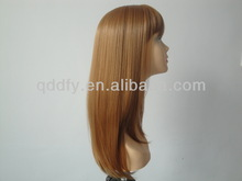 2014 Fashion Blonde Beauty Model Synthetic Party Wigs