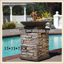 Best selling polyresin outdoor crackling fire garden fireplace