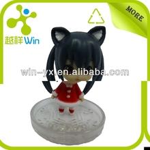 small plastic toys cute cartoon girl action figure