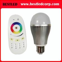 RGBW 9w LED globe light bulb