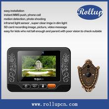 hidden security peephole camera , wireless video door phone doorbell spy door viewer