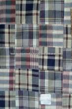 wholesale madras cotton patchwork fabric drawstring bag