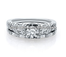 Fashion Diamond Wedding Ring Set in 925 Sterling Silver
