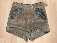 Children's Boys Lederhosen Gray Leather Shorts German Vintage