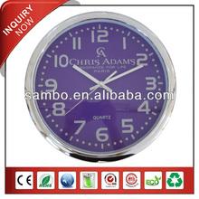Plastic Decorative Purple Wall Clocks