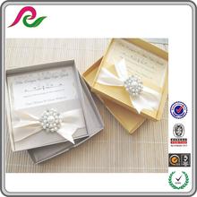 2014 luxury wedding invitations silk boxes supplier