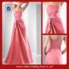E0390 New Design Fashion Evening Dresses 2013 With Sash Peach Color