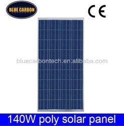 China good price per watt 140w solar panels