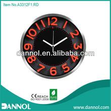 """12"""" aluminium wall clock with 3D bar/12 inch aluminum clock frame"""