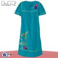 de aves y bordados florales de dormir vestidos de noche