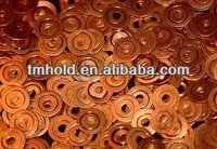 din sealing washer copper honeycomb round type sheet on car parts