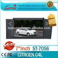 Cheap LSQ Star Citroen C4 L Car Stereo With Dvd/cd/bluetooth/radio/dual Zone/ipod/6cd/gps/3g! Hot Selling!