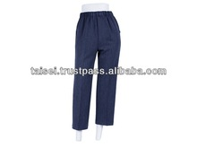 Ladies stretch pants fashion brand name with elastic waist rubber