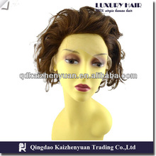 hot top natural wave color 4# full lace wig bald wig