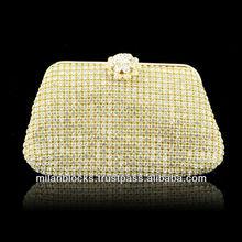 Embellished Swarvoski Evening Clutch Sparkle Shinny Blingbling Silk Evening Bag