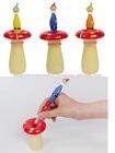 [Make You Smile]Dwarf Shape Pen with Mushroom Shape Pen Stand (Blue / Green / Red)