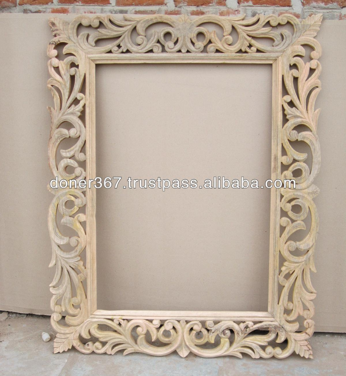 Wooden Big Hand Carved Mirror Frame Buy Big Size Wooden