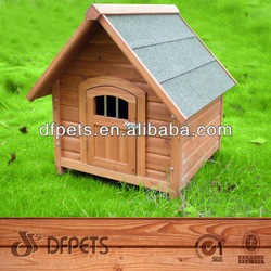 Wooden Dog House With a-Frame Top DFD3006