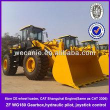 Joystick zl60g wheel loader, Weichai CAT licensed engine zl60g wheel loader for sale