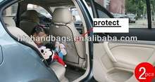 Fashion branded car back seat kick mats