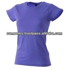 100% Cotton T Shirt O Neck Young Girls