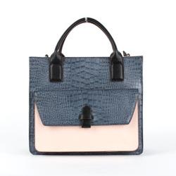 Classical Crocodile Pattern PU Women Tote Bag (D13026)