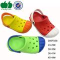 Colorido de moda barato de plástico atractivo de los niños de zuecos